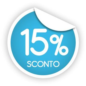15% sconto