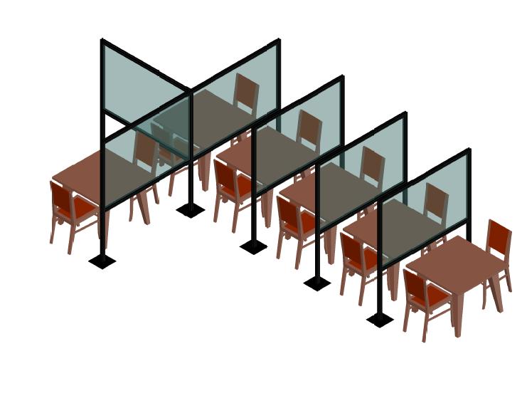 Plexiglass per ristoranti